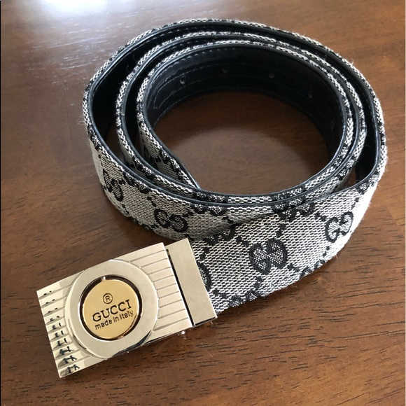 4c91eaa99 Gucci Accessories | Italy Monogram Belt Gold Silver Buckle M | Poshmark